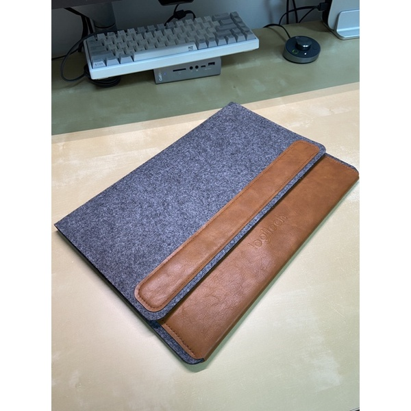 Logitech 羅技 羊毛氈 平板套/筆電套/無線鍵盤保護套 皮革棕