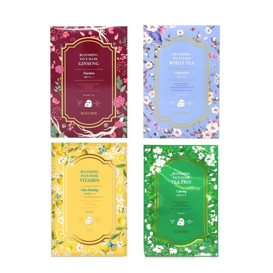 韓國 DEWYTREE 自然晨露 綻放花朵系列 花面膜 保濕面膜 單枚入 即期良品【FoMo 美妝小秘書】