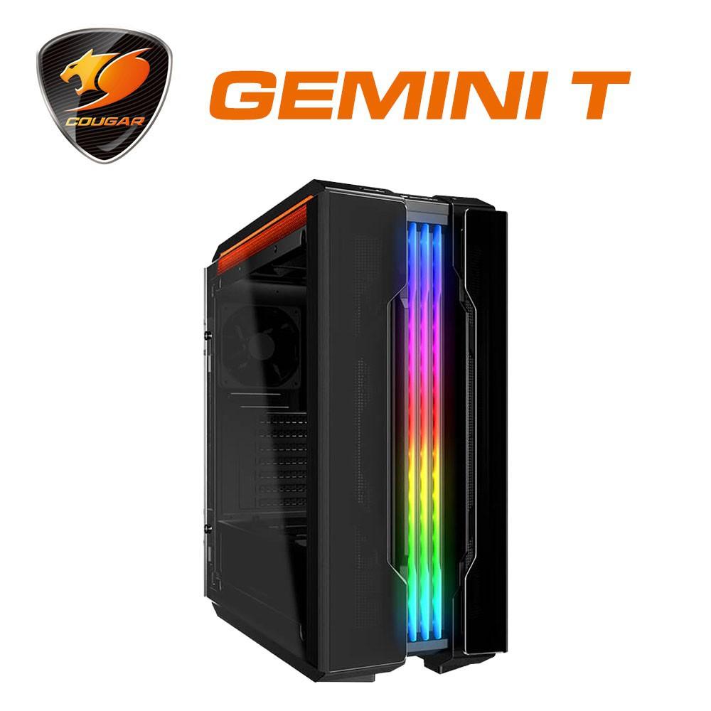 【COUGAR 美洲獅】GEMINI T 搭載閃耀RGB燈效的鷗翼式開窗機箱 / 電腦機殼