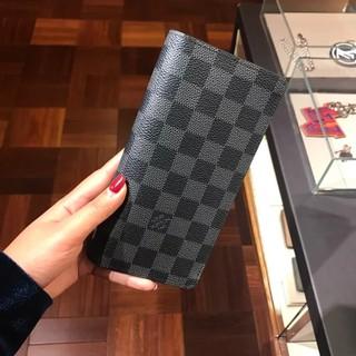sports shoes 6be2d 59f5b 專櫃正品 LOUIS VUITTON LV N62227 全新 黑灰 格棋盤格 對折 長夾 皮夾 現貨