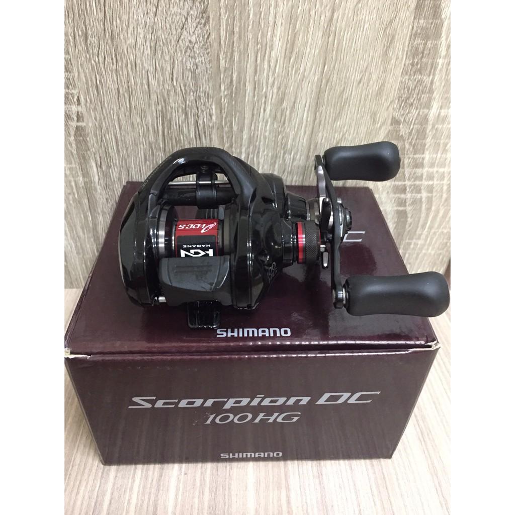 🔥【平昇釣具】🔥SHIMANO Scorpion DC 100HG 紅蠍 電子煞車系統雙軸梭式捲線器 路亞小烏龜