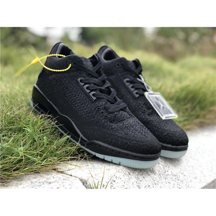 pick up 61fcf 92565 喬丹Air Jordan AJ3 Flyknit,黑色夜光編制 跑步鞋 慢跑鞋 籃球鞋 運動鞋 高幫鞋 男鞋 休閒鞋