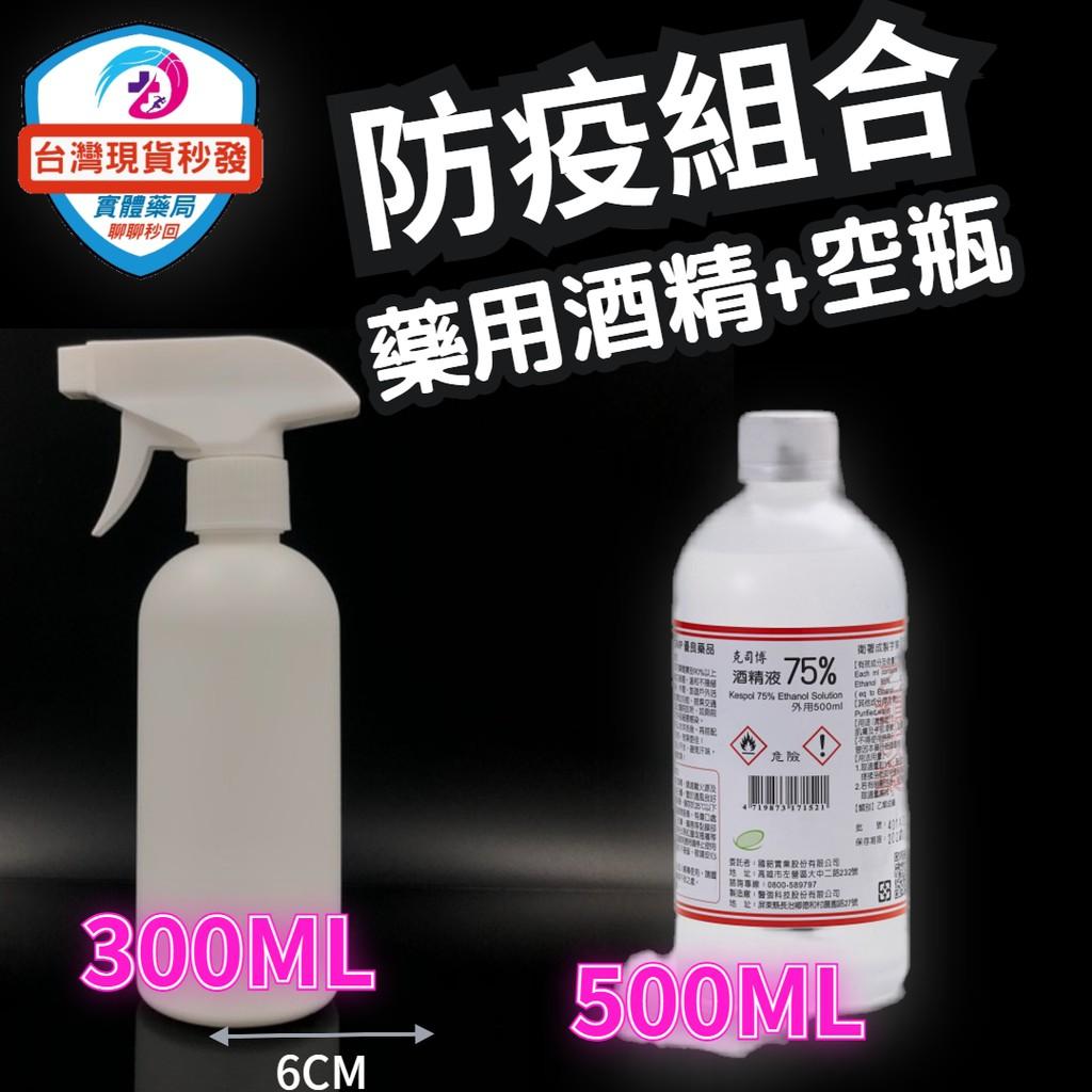 台灣現貨 醫強 克司博 酒精 酒精液75%抗菌 清潔 防疫酒精 隨身瓶 500ml  HDPE 噴瓶  60ML 100