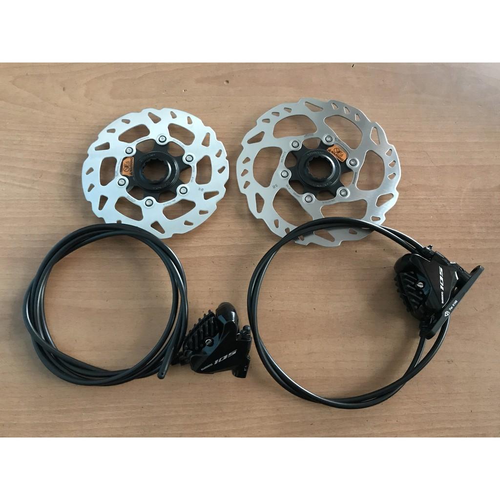 火雞二輪 原廠散裝Shimano 105 R7020 BR-R7070卡鉗油壓碟煞+BH90油管+SM-RT70碟盤