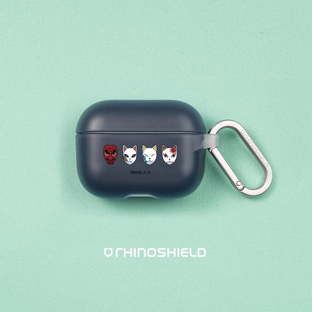 犀牛盾 適用於Airpods Pro/第2代/第1代 防摔保護套(含扣環)/鬼滅之刃-天狗面具