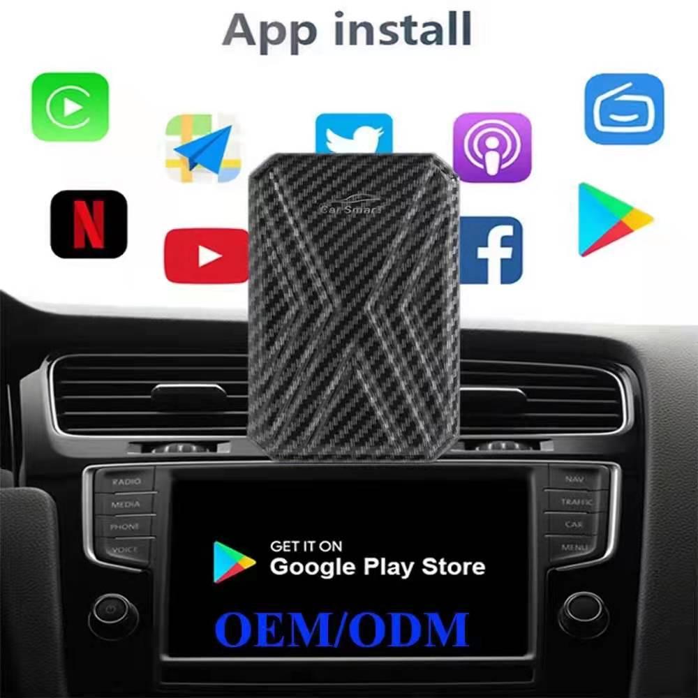 升級版AI BOX無線Carplay手機投屏安卓9.0車機支持谷歌系統4+64G