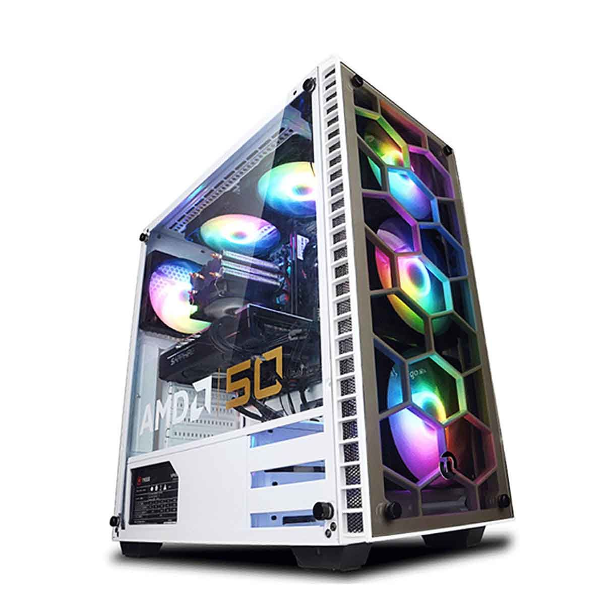 AMD銳龍R5 2600/GTX1650昇1660遊戲主機高配吃雞電腦臺式組裝整機