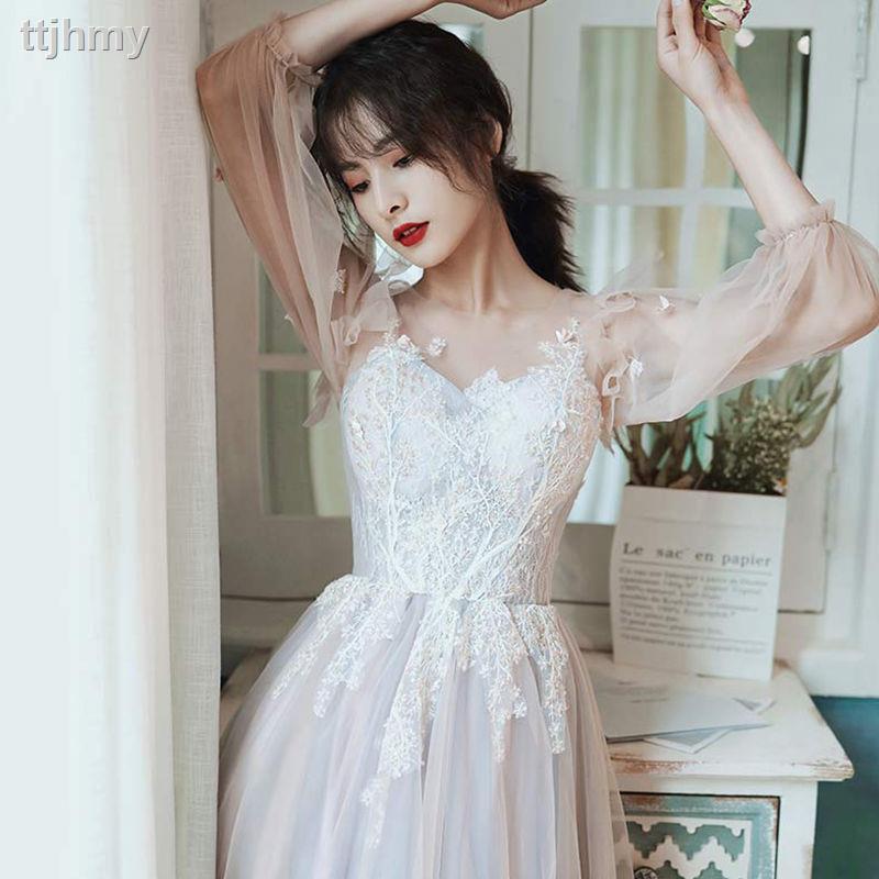 ▬☞18歲成人禮學生畢業藝考晚禮服裙女仙氣2021新款平時可穿宴會高貴