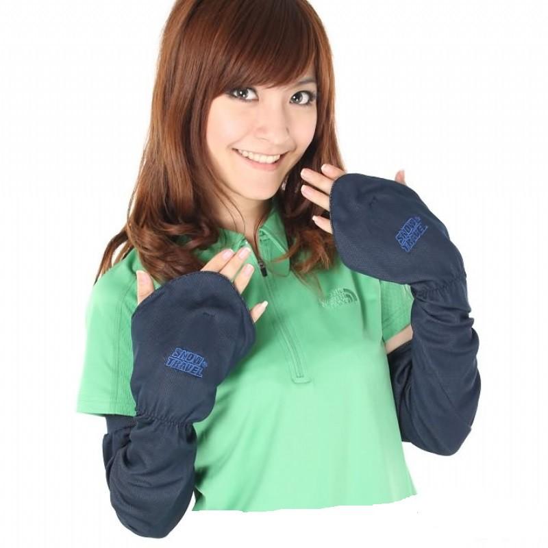SNOWTRAVEL 冰涼抗UV防曬遮指袖套(藍色)[STAH006-BLU]