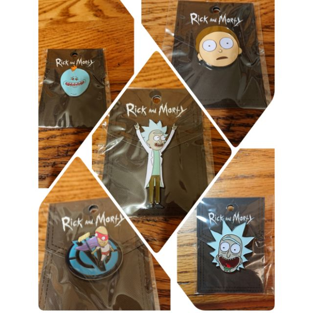 Rick and Morty 瑞克和莫蒂 造型限定徽章 胸針
