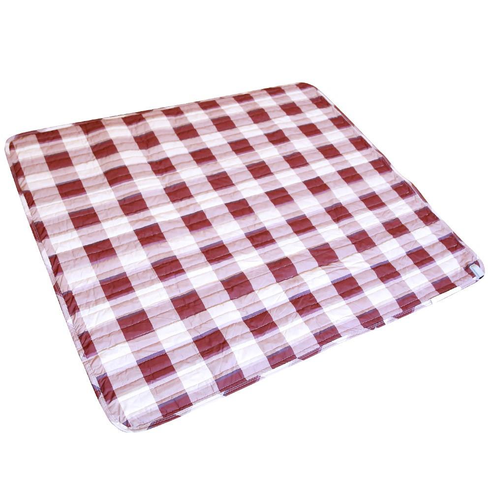 意得客 最新超導熱衛星科技可水洗雙人電熱毯 (紅格紋) 現貨