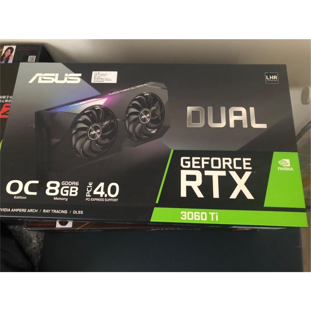 現貨4張 ASUS 華碩 DUAL RTX3060TI 8GB LHR GeForce 顯示卡 顯卡 全新沒挖礦