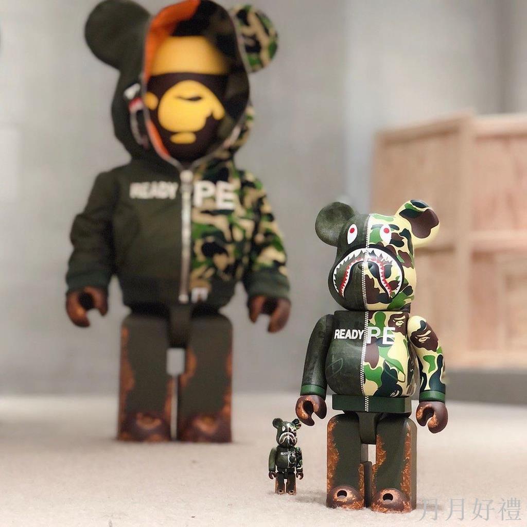 1000% BAPE Bearbrick暴力熊積木熊擺件 70cm庫柏力克熊公仔潮玩盲盒【月月好禮】