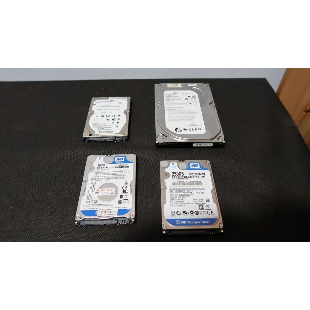 二手 老舊 套裝 電腦 更新 2.5吋 3.5吋 硬碟 桌上型 筆記型 250GB 500GB SATA介面