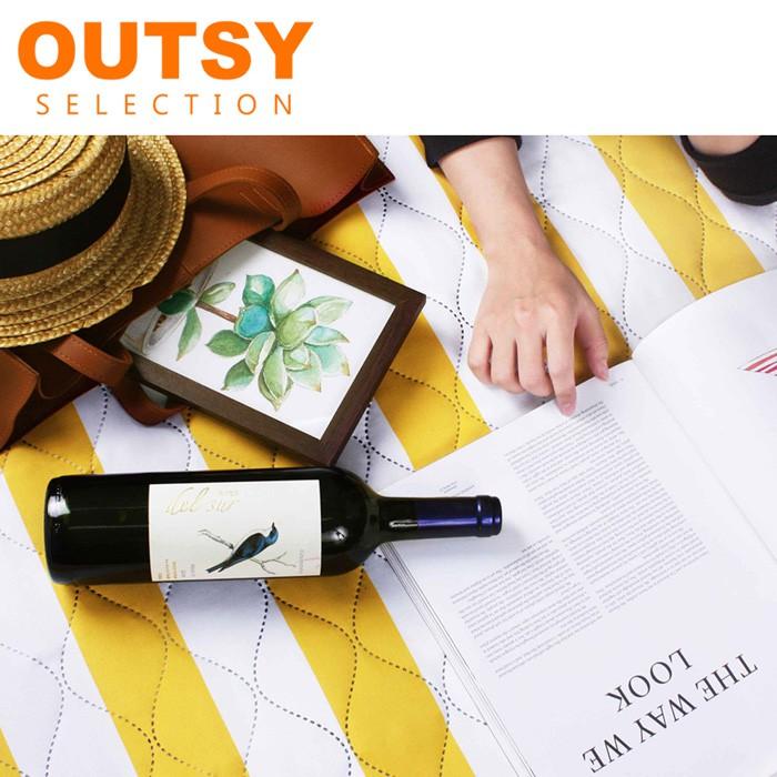 OUTSY 特厚鋪棉野餐墊/帳篷地墊歐式條紋 多色可選 135X180