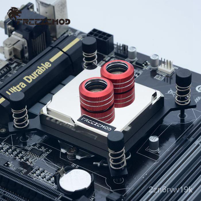 【滿250發貨】【客製化】FREEZEMOD全金屬2019款CPU水冷頭INTEL-JB6T紫銅底板2066旗艦版
