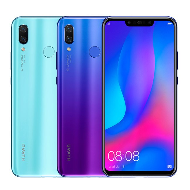 【HUAWEI】nova 3 四鏡頭6.3吋手機(6G/128G)◆送HUAWEI大禮盒(耳罩/環扣/保溫瓶)X-249