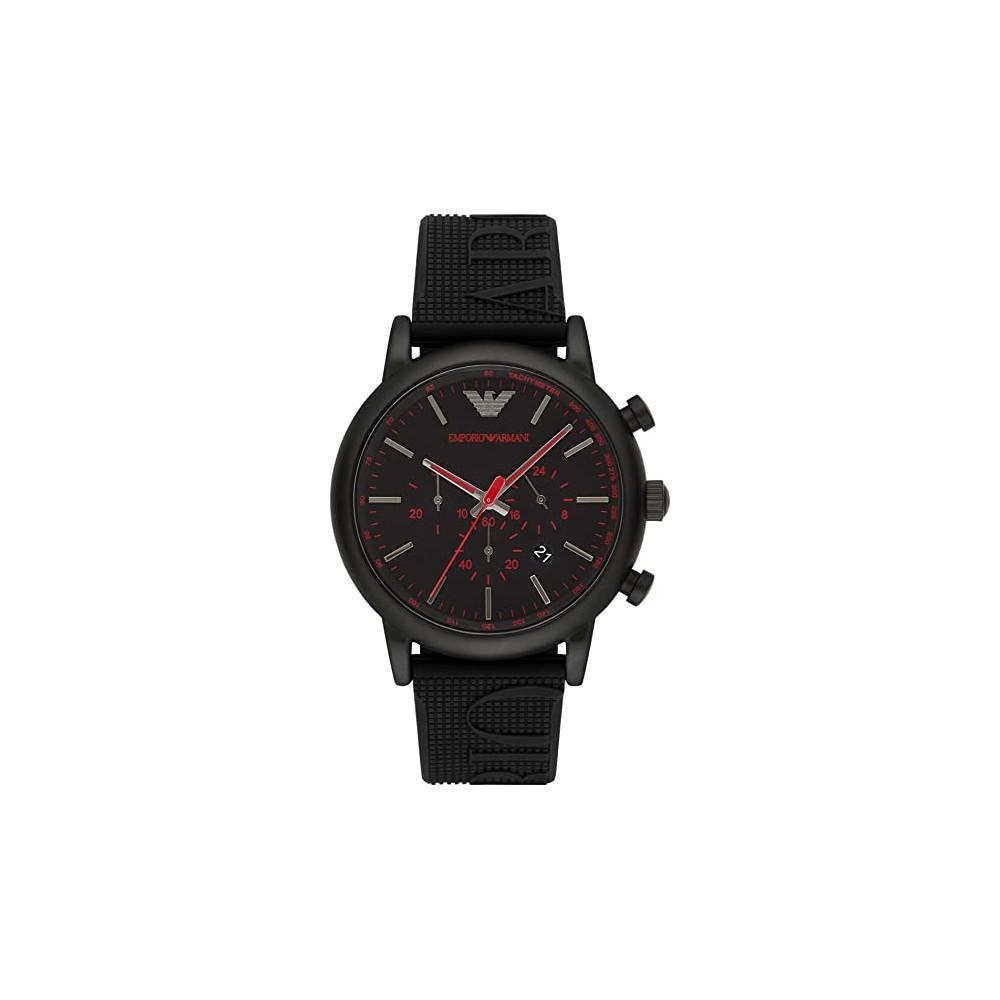 ARMANI 手錶 AR11024 ORIS 風格 橡膠錶帶 三眼計時 錶現精品 原廠正品
