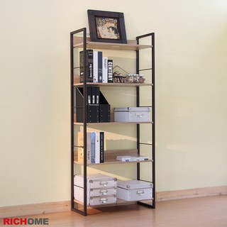 RICHOME  SH481-1 里斯特3D木紋五層架(咖啡鐵管)   多肉置物架   書架  收納架 臺中市