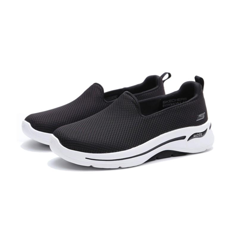 SKECHERS ArchFit 健走鞋 懶人鞋 黑色 柔軟底# 124401WBKW