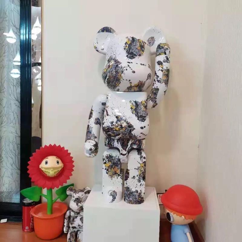 庫柏力克熊 1000% 公仔 大型玩偶 家具擺飾 潑墨 潮流創意 高規格版本 暴力熊 潮牌
