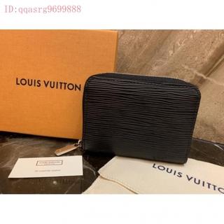 二手正品  Louis Vuitton LV M60152 黑色 EPI 水波紋 拉鍊零錢包 桃園市