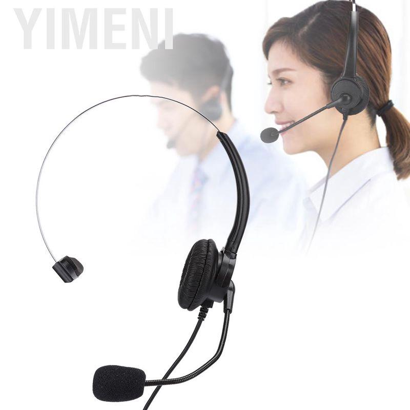 也門電話單耳耳機座機電話耳機帶家用麥克風