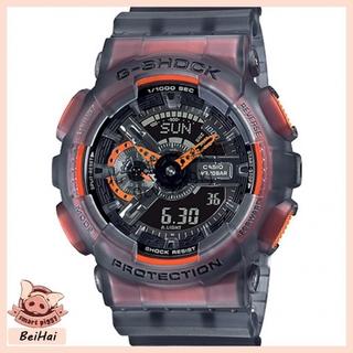 CASIO 卡西歐 G-Shock 防水 防震 灰黑半透明 運動手錶 冰電之韌主題冰韌系列 GA-110LS-1A 桃園市