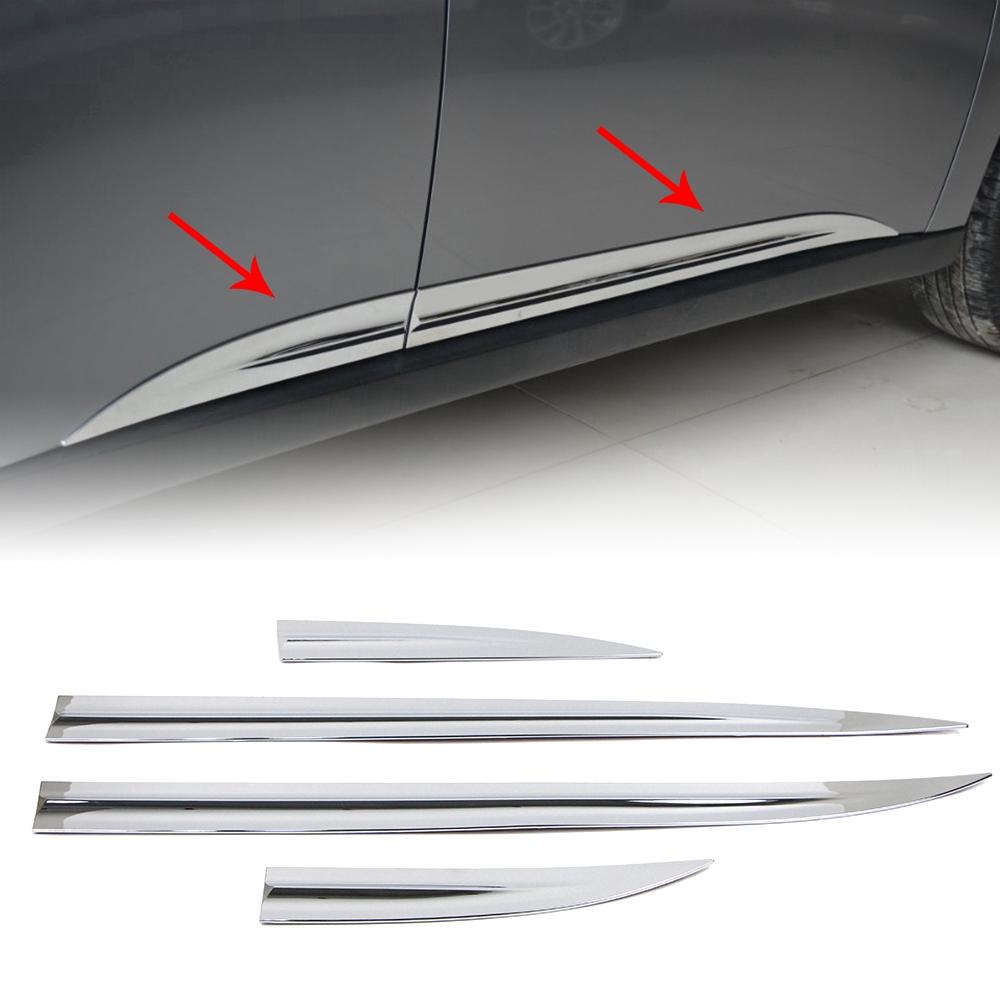 三菱 汽車門邊條 歐藍德 Mitsubishi Outlander 13-18年 鍍鉻材質 門板亮條 車身飾條 防擦防撞