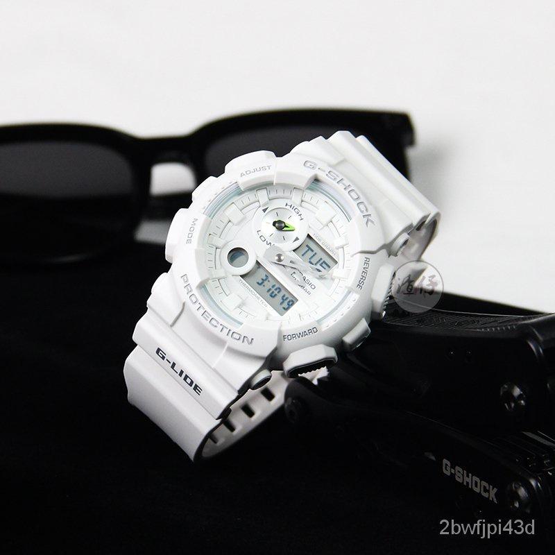 開學季開學季CASIO卡西歐G-SHOCK潮汐月相溫度防水運動男女手錶GAX-100B-7A/1A 9J6o