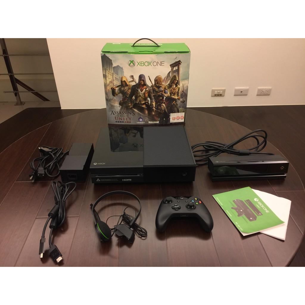 (二手) [未改機] XBOX ONE 500G + Kinect 刺客教條經典組 (注意:不含同捆的數位版遊戲)