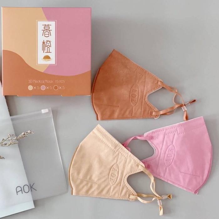 【AOK】 ★成人★醫療口罩 ★3D立體細繩(含調節扣)★台灣製造 ★
