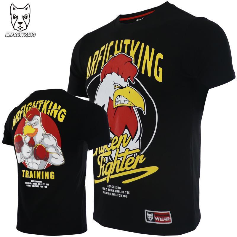 《傲劍體育》ARFIGHTKING格斗訓練速干運動短袖T恤男MMA搏擊UFC毒液健身泰拳擊