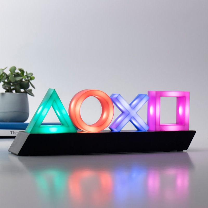 創意小夜燈 特惠7-11免運 PS4遊戲圖標燈聲控音樂節奏燈PlaySation ICONs light信仰裝飾燈
