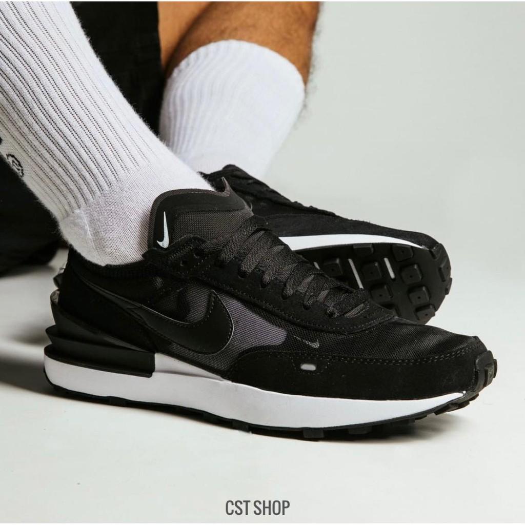 "NIKE WAFFLE ONE ""SLEEK BLACK"" 黑色 小SACAI 解構 男女鞋 DA7995-001"