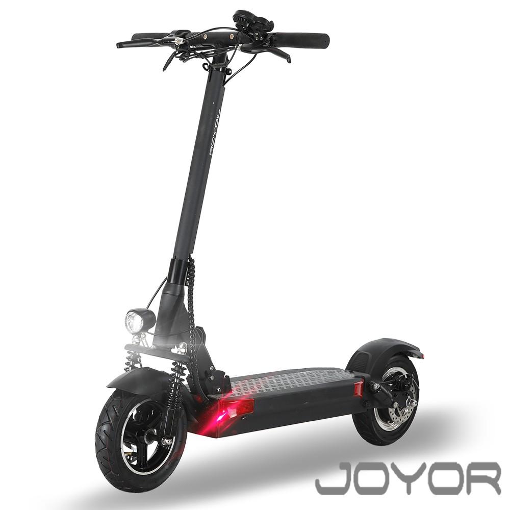 【JOYOR】EY-08 鋰電 48V 定速500W 10吋大輪徑 碟煞電動滑板車