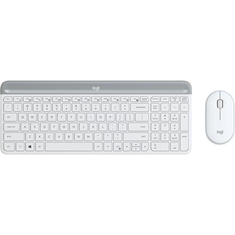 羅技 MK470 超薄無線鍵鼠組 (珍珠白)