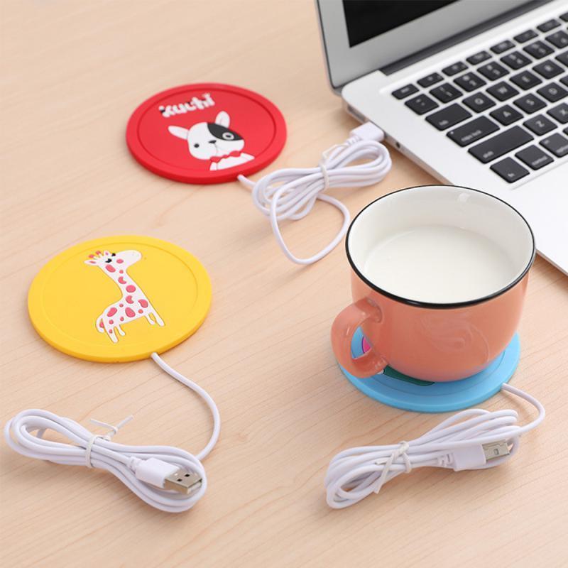 卡通創意硅膠加熱杯墊 暖暖杯墊 智能恆溫杯墊 保溫杯 USB保溫杯墊 智能杯墊 USB杯墊