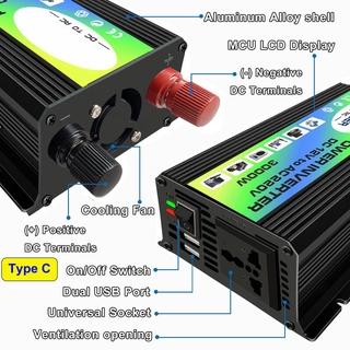 3000W 12V至220V /  110V雙USB汽車電源逆變器轉換器
