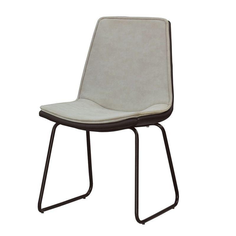 【MA532-3】雅奴斯餐椅(淺灰布)(五金腳)