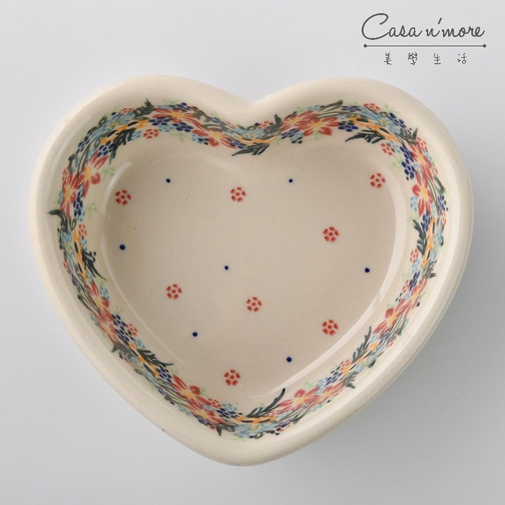 波蘭陶 桃花源系列 愛心造型烤盤 蛋糕盤 烘焙模具 焗烤盤 烤皿 波蘭手工製
