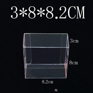 婚禮小物烘焙包裝 3*8*8.2cm 透明PVC盒塑膠盒【30個起訂】 玩偶收藏包裝盒平板紙盒香皂盒禮品盒透明盒 臺中市