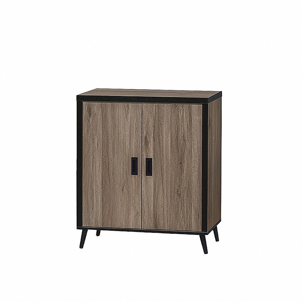 AS-灰橡耐磨收納櫃/餐櫥櫃/矮櫃-80×40×92cm