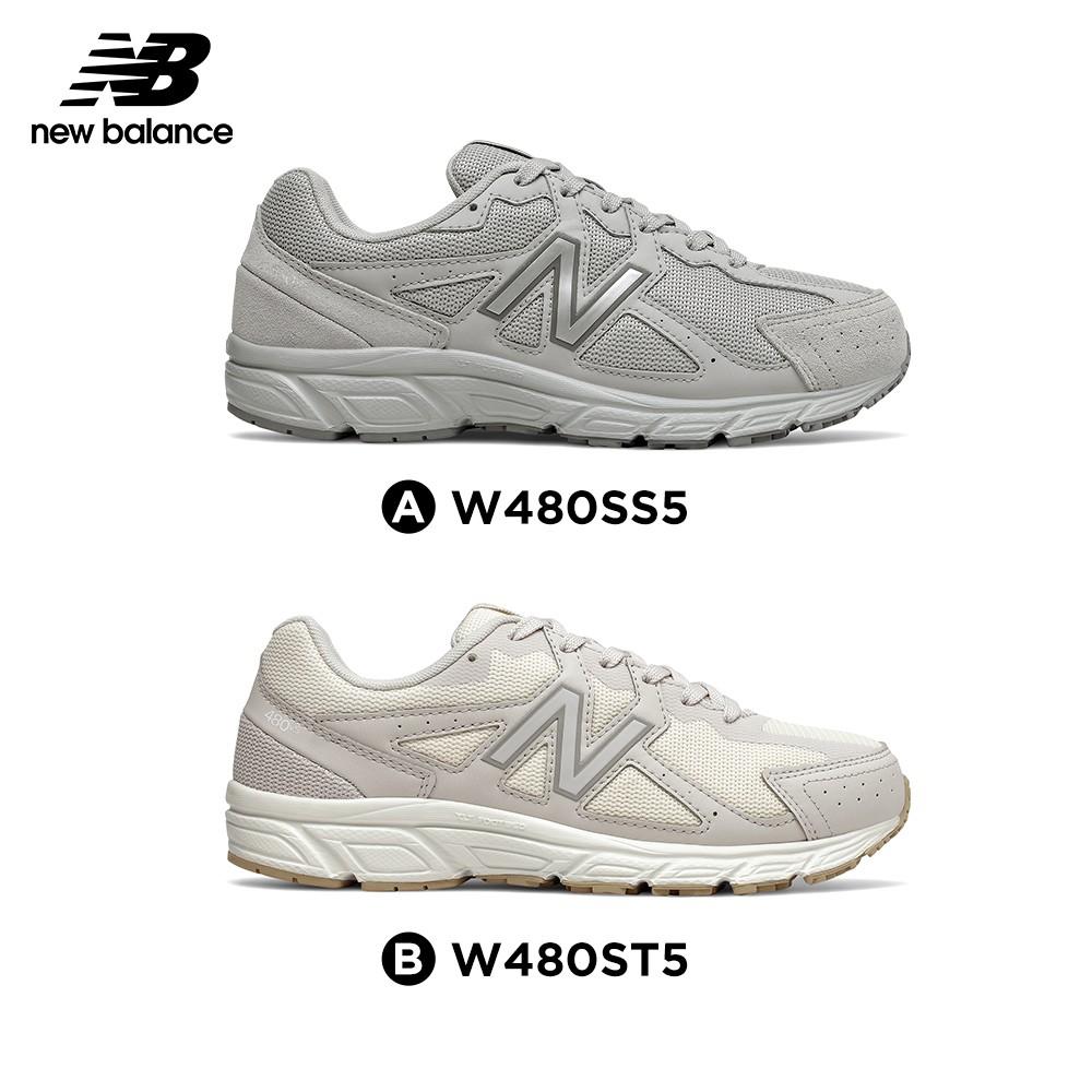 【New Balance】緩震跑鞋_女性_灰色/米黃_W480SS5/W480ST5-4E楦