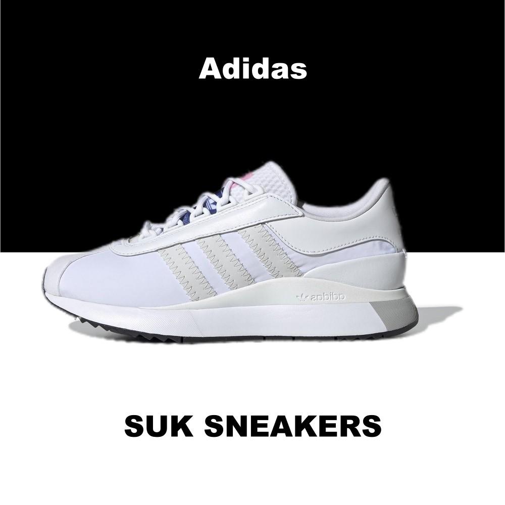 SUK 代購 ♦️ Adidas Originals SL Andridge 白灰 白色 花卉 緞面 厚底 EG6846