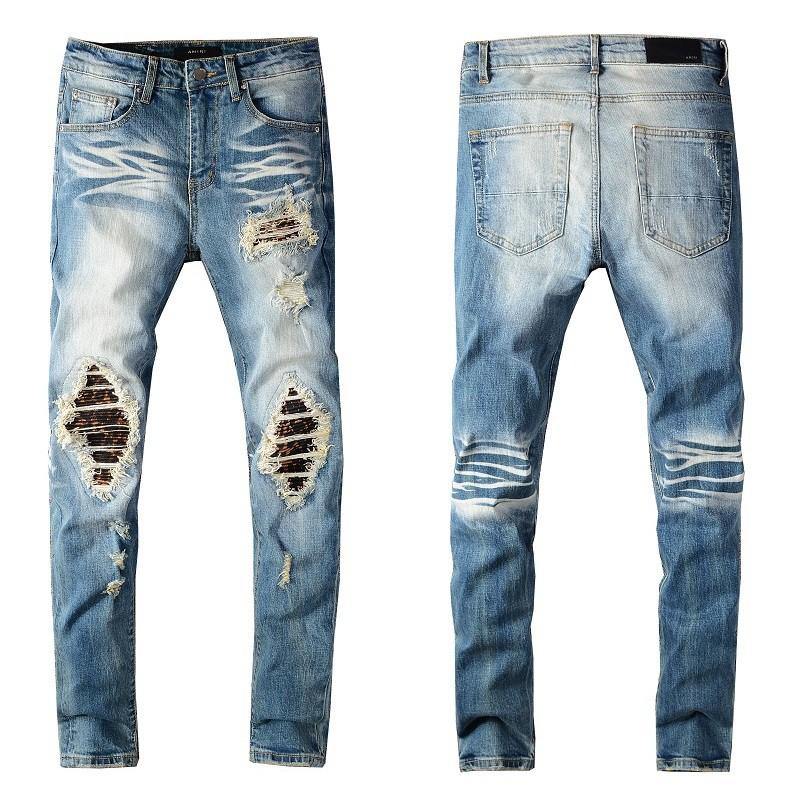 經典熱銷款 BALMAIN JEANS牛仔褲 修身小腳牛仔褲 男士破洞拉鏈潮男褲子 巴爾曼直筒牛仔褲