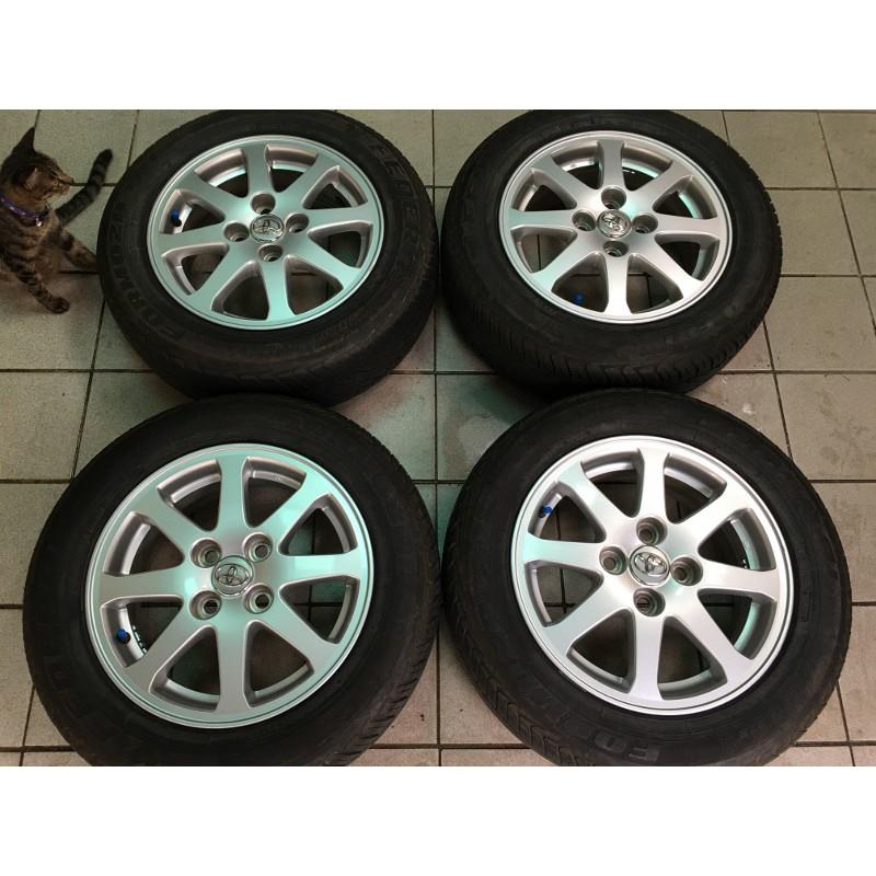 99新 豐田 VIOS原廠 4孔100 14吋鋁圈含輪胎 YARIS TERCEL CORONA COROLLA