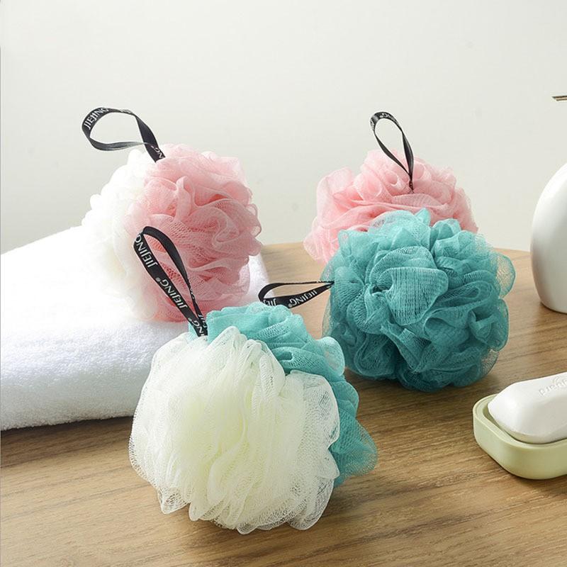 【現貨】沐浴球 搓澡球 成人洗澡球 浴花 泡泡浴球 洗浴球 沐浴花  素雅大號洗澡用品