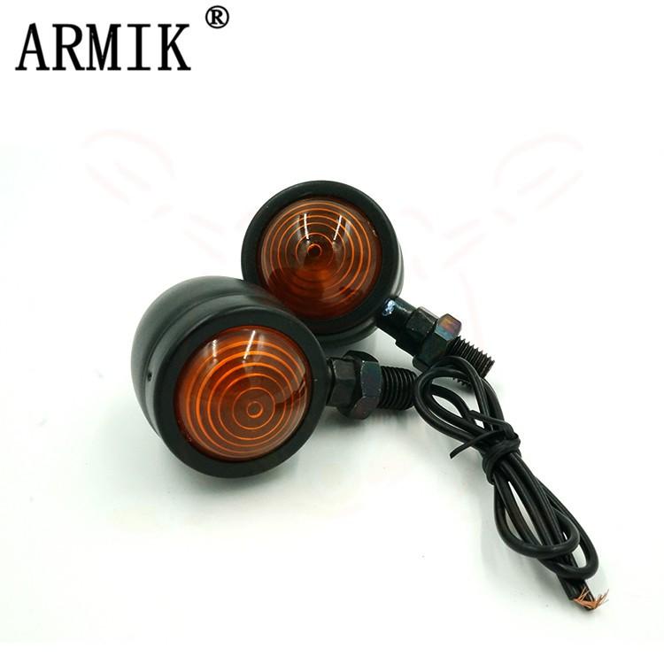 【現貨】ARMIK 機車復古改裝方向燈 單線方向燈 螺紋方向燈 轉向燈 野狼 KTR 雲豹 愛將 MY150 金旺