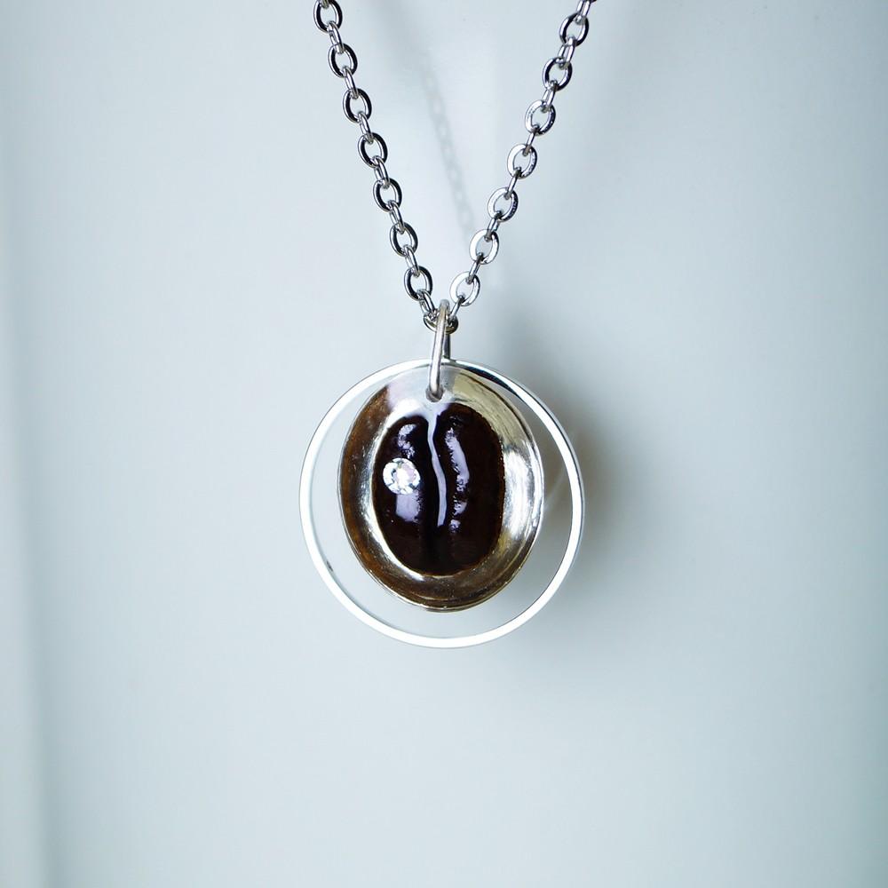 咖啡豆項鍊 - 真實咖啡豆創作  咖啡 項鏈 咖啡豆 項鏈 飾品 禮物